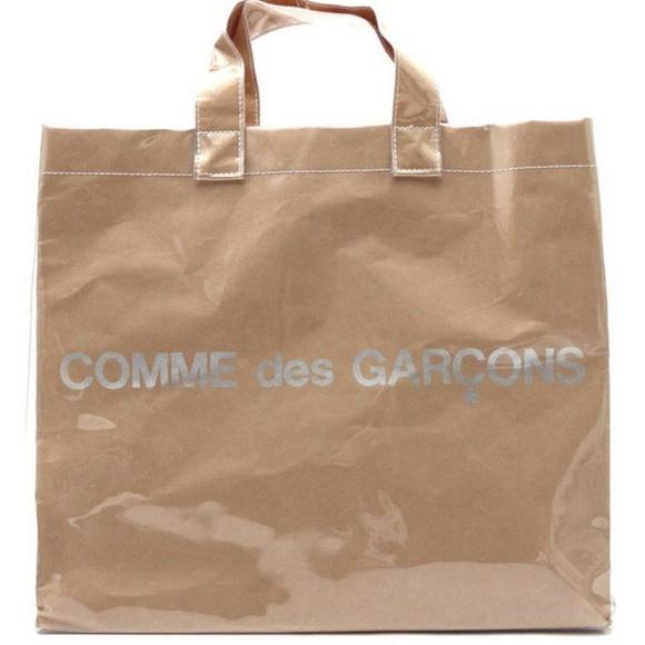 71b1f1740f4 Comme des Garcons PVC Paper Tote Bag