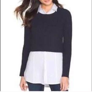 White House Black Market ribbed crop sweater 1120