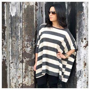 🆕 Boutique Dolman striped knit sweater