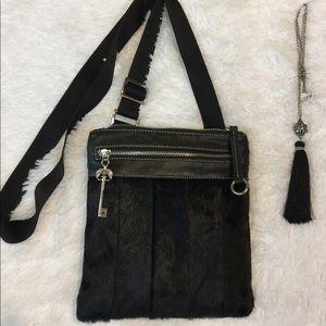 Aqua Madonna Calf Hair Crossbody Bag