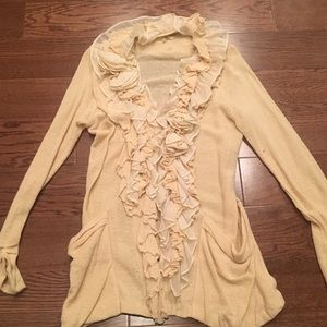 Sweaters - Cream Cardigan