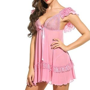 Other - 🌸Quality Sexy Babydoll Ruffle Wing Lingerie,S-XXL