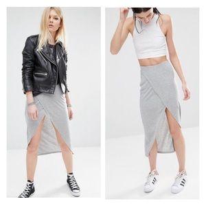 asos • noisy may • high low wrap midi maxi skirt