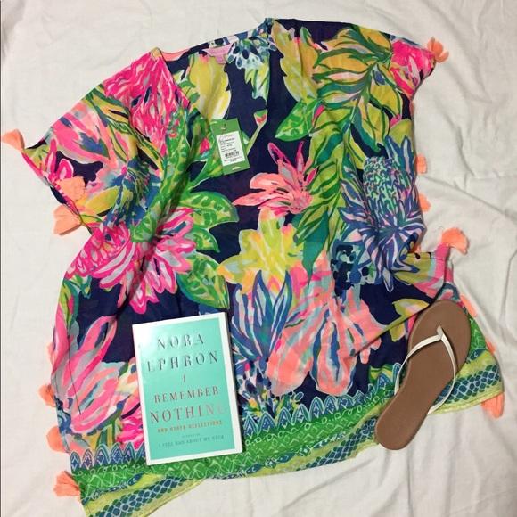 5e63e89192bd4e Lilly Pulitzer Swim | Lp Castilla Cover Up Tunic In Travelers Palm ...