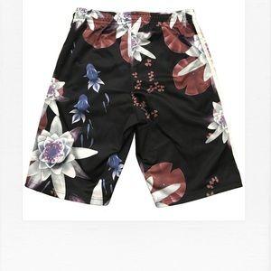 42d3606529f Adidas Shorts - Adidas Originals Lotus Print Basketball Short