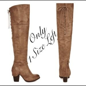 Shoes - Over the knee studded boots