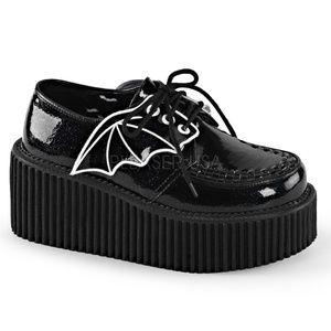 Shoes - Bat Wing Punk Creeper Gothic Shoes Platform Black