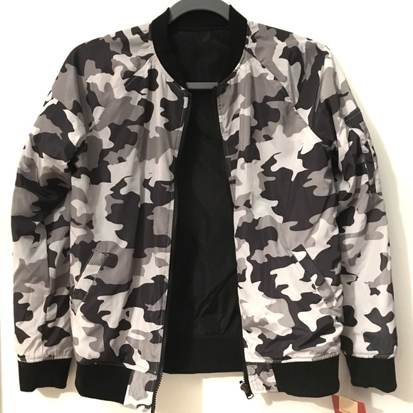 a3d8efa09 Mossimo Supply Co Reversible Camouflage Bomber Boutique