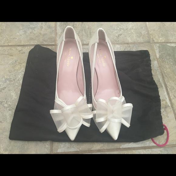 fa21ff64f44 kate spade Shoes - Kate Spade Jackie Heels Ivory - Size 6