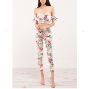 Akira floral two piece outfit