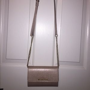 SALEMichael Kors Jet Set Travel metallic crossbody
