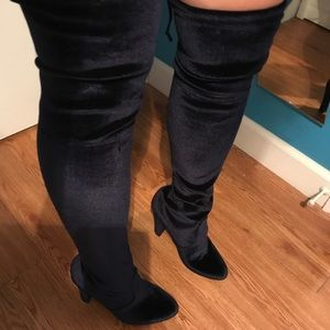 Velvet Over-Knee Steve Madden Boots *Valentine's