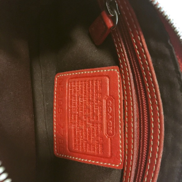 Coach Bags - COACH red leather small bag