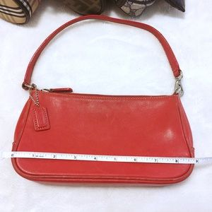 COACH red leather small bag