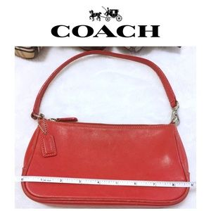 COACH Hampton Bag in red leather