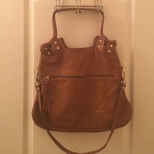 "Handbags - Pietro Alessandro ""Brooklyn"" Tan Leather Purse"