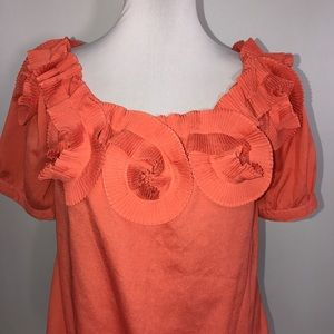 Moon Collection Woman's Top Lg Orange - SALE