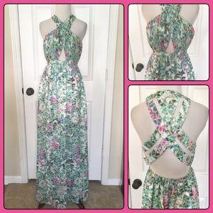 LOVERS + Friends Maxi Cutout Long Revolve Dress S