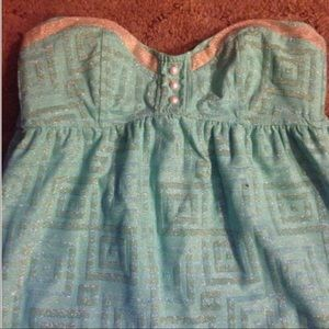 Betsey Johnson strapless dress