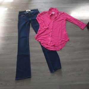 Pink tunic Hollister top