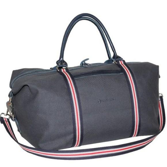 954ba36279 Vintage Bags | Scarborough Tweed All Black Duffle Saddle Bag | Poshmark