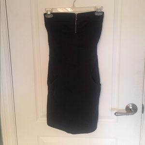 Hurley black strapless dress