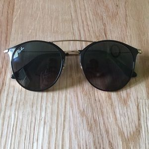 Ray-Ban Highstreet Sunglasses: Black/gold
