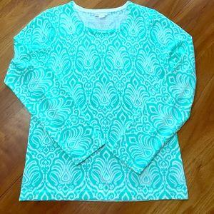 Garnet Hill 100% Merino Wool L crewneck sweater.