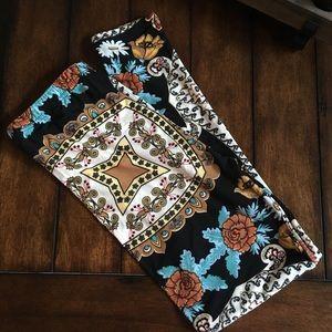 Pants - Paisley Print Super Soft Leggings-Great Fall Look!