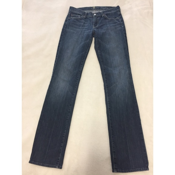 7 For All Mankind Denim - 7 for All Mankind Straight Leg Jeans Size 28