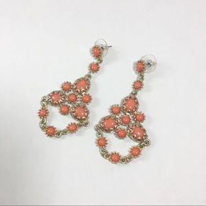 Jewelry - NWOT coral chandelier earrings