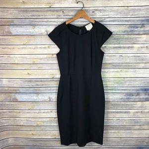 Kate Spade Black Cap Sleeve Sheath Dress