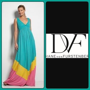 Diane Von Furstenberg Kiwana Long Maxi Dress S