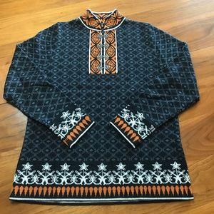 Cabelas Icelandic style medium blue sweater