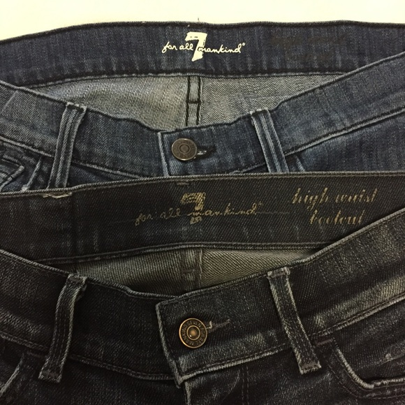 7 For All Mankind Denim - 7 For All Mankind 2 Pair High Waist Bootcut Jeans