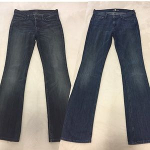 7 For All Mankind Jeans - 7 For All Mankind 2 Pair High Waist Bootcut Jeans
