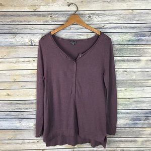 Lilla P Mauve Super Soft Henley Sweater