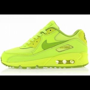 more photos 0a65c d2e44 Nike Shoes | Shoe Sale Boys Air Max 90 Neon Green | Poshmark