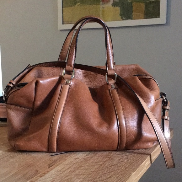 Zara Woman Large Leather Duffle Bag