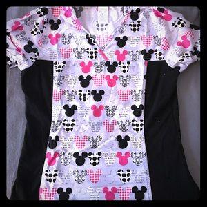 Tops - Disney Mickey and Minnie scrub top! M