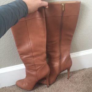 Banana Republic cognac heeled boots
