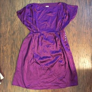 Beautiful purple silk dress