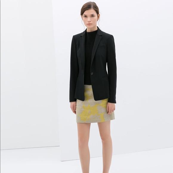 3d28e40b Zara Basic Black Single Button Blazer - EUC!! M_59b17d06981829f02100d139