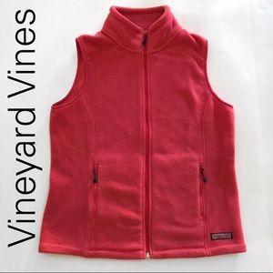 Vineyard Vines Pink Fleece Vest Full -Small