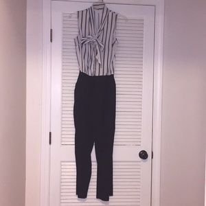 NYCO striped and black jumpsuit