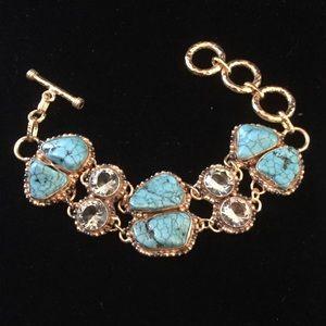 Stunning Turquoise & Crystal Bracelet
