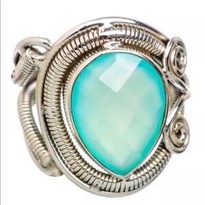 Jewelry - Artisan Crafted Aqua Chalcedony Ring size 7.5