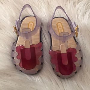 Toddler little girl jelly sandals