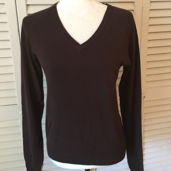 Zara - Zara Brown V-neck sweater size Large from Sweetabell's ...