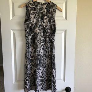 Prana Sleeveless Tank Dress Black and Tan